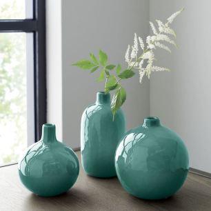 objet-déco-bleu-canard-clair-vases-bombés
