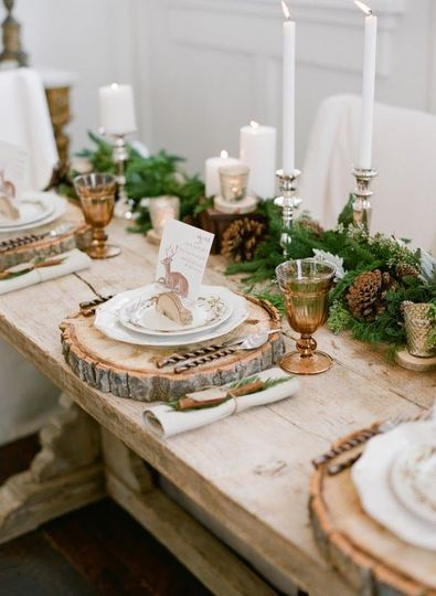 table-noel-rustique-forestiere