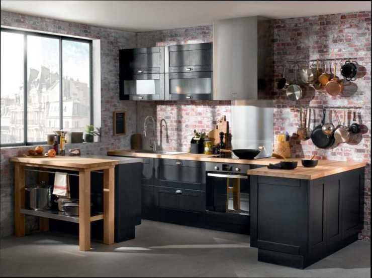 beau-cuisine-noire-et-bois-noir-avec-inspirations-photo